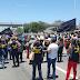 Servidores da segurança fecharam a BR - 101 em protesto contra atrasos de salários