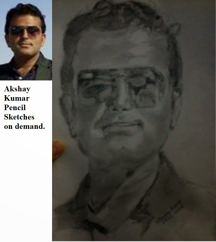 This pencil portrait was asked to draw by my friend from jhalamand jodhpur rajasthan i was provided with this reference picture