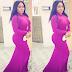 Halima Abubakar flaunts curves in hot purple dress
