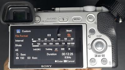 Cara membuat video timelapse menggunakan Sony A6000