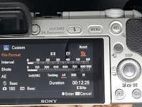 Membuat video timelapse dengan Sony A6000