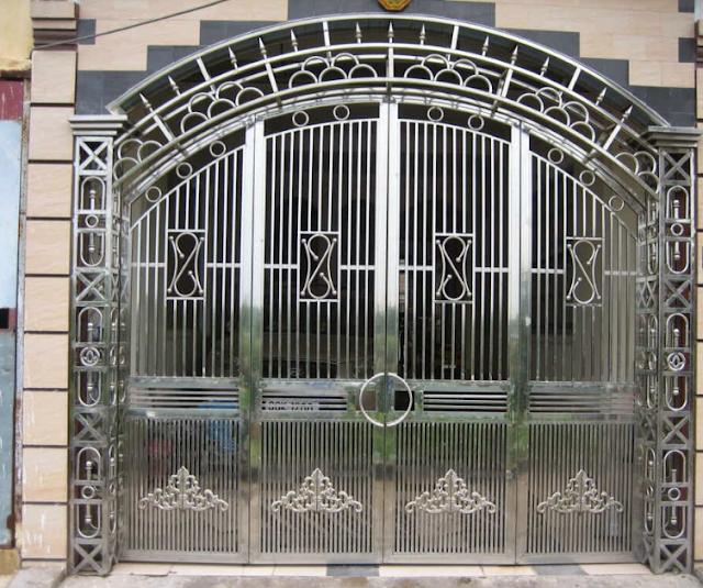 Mẫu cổng inox 4 cánh đẹp
