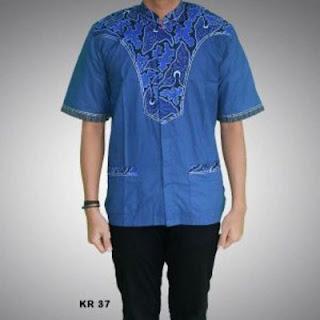 model baju koko kombinasi batik terbaru