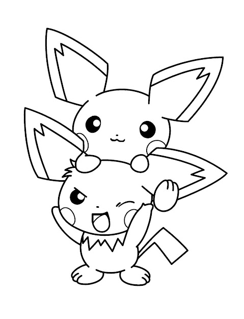 Pichu Pokemon Coloring Page Print Out And Color This Pichu Pokemon  Coloring Page It Will Be Nice Present For Your Mom Or Dad Color This  Picture Of