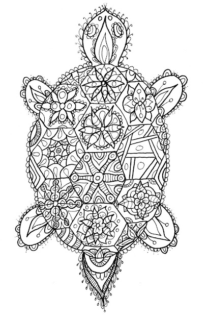 Tortoise Doodle By Welshpixie On Deviantart See More Zentangle Turtle  Adult Antistress Coloring Page