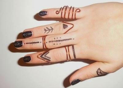 Como hacer anillos midis de medio dedo tutorial