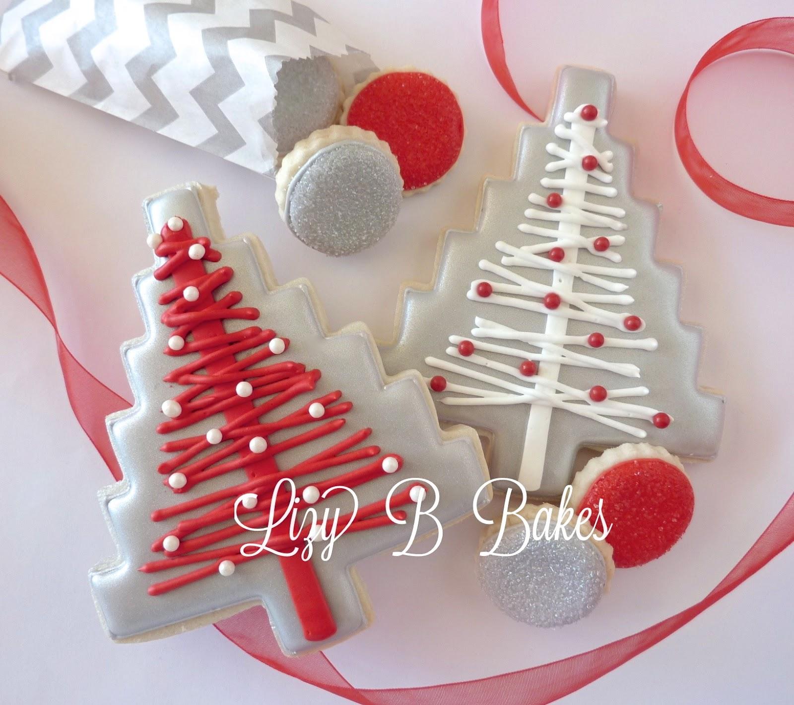 Christmas Tree Decorated Cookies: Lizy B: Homespun Christmas Tree Cookie
