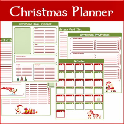 A Typical English Home Freebie Thursday Christmas Planner Printables