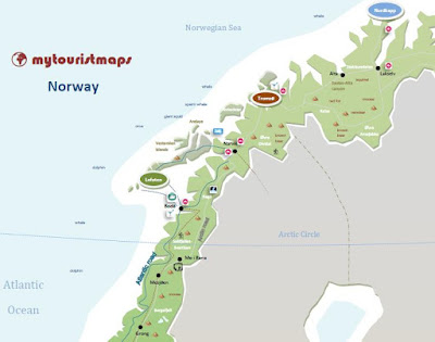 interactive tourism tourist travel map Norway