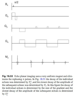 A magnetic resonance imaging pulse sequence for echo planar imaging, from Intermediate Physics for Medicine and Biology.