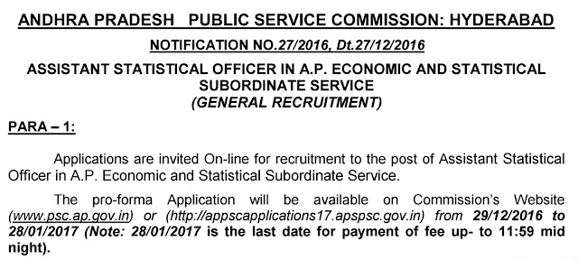 APPSC ASO Notification