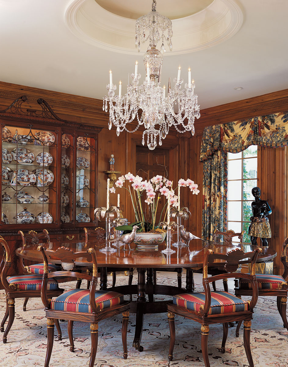 A tribute to designer daniel clancy the glam pad for Regency dining room