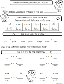 Free Valentine Math Lesson for Primary