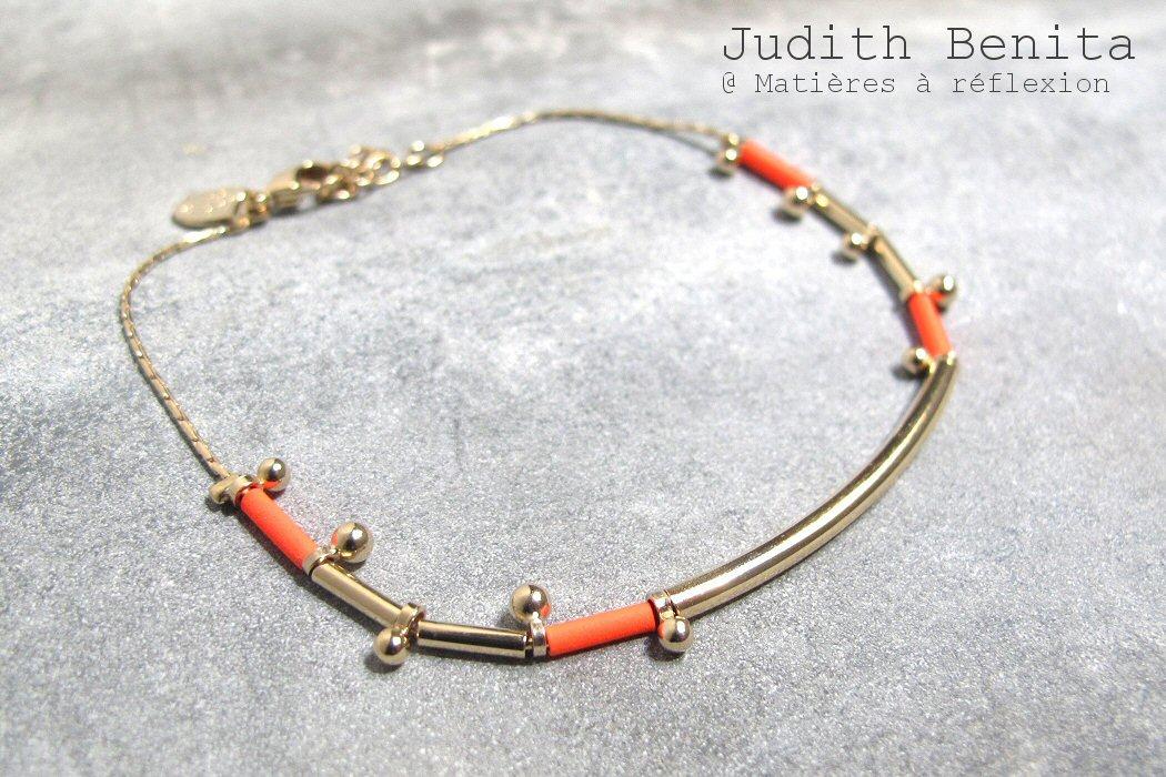 Bracelet rouge fluo Judith Benita
