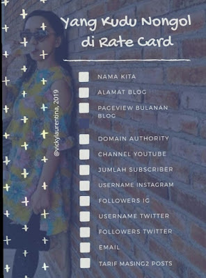 contoh rate card