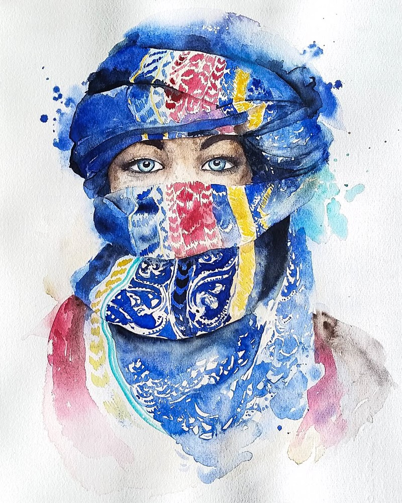 Watercolor Paintings by Yulia Shevchenko from United States.