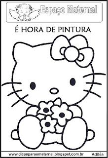 Desenho Hello kitty para colorir