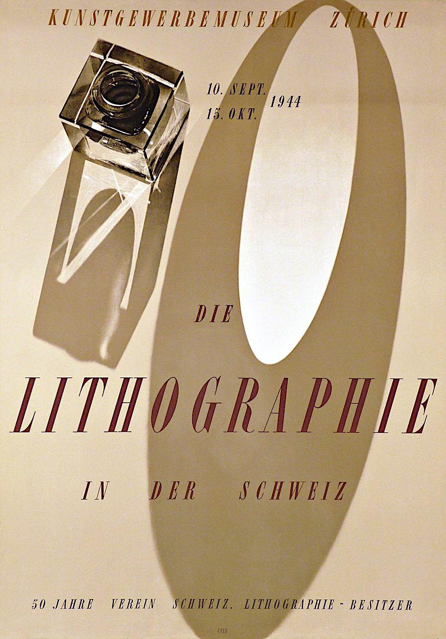 Werner Bischof photo Lithographie in der Schweiz