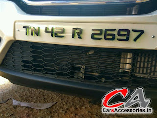 Honda Jazz Number Plates Design Car Accessories Modified