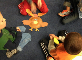 Turkey rhythms: A great way to practice rhythm! Blog post includes other great activities for Thanksgiving in the music room!