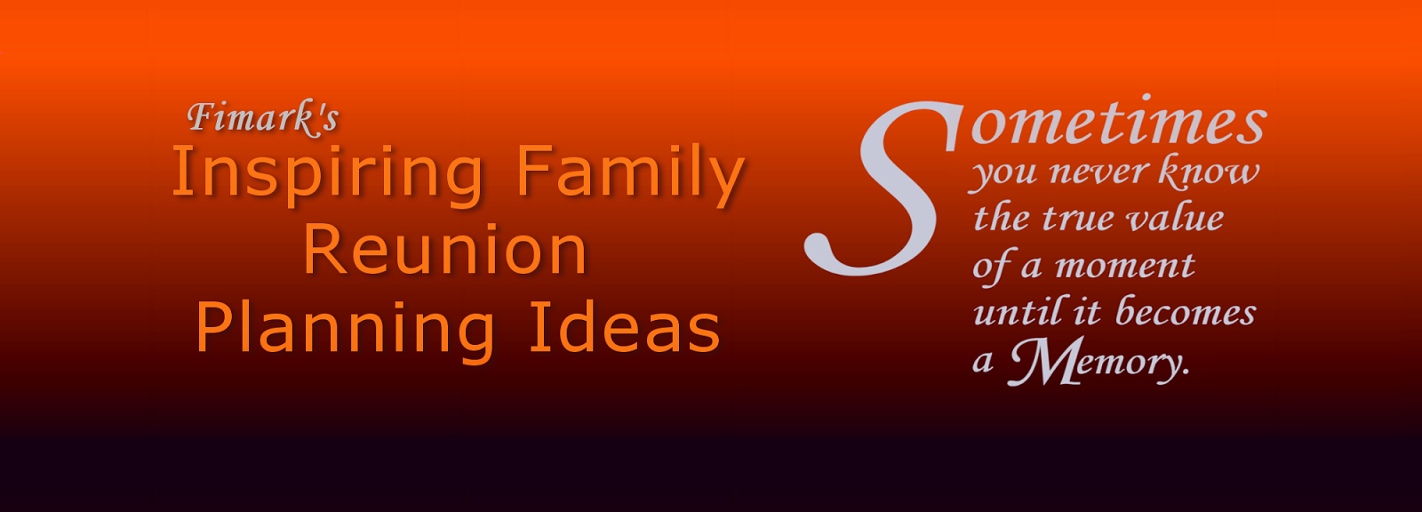 Family Reunion Planning Guides Apps And Books Winning Event