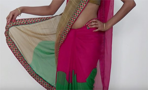 Fast & Easy Saree Wearing tutorial