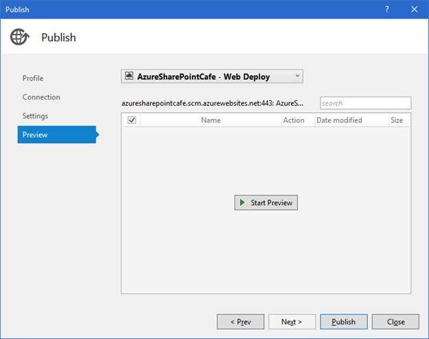 Publish Web App to Cloud Azure