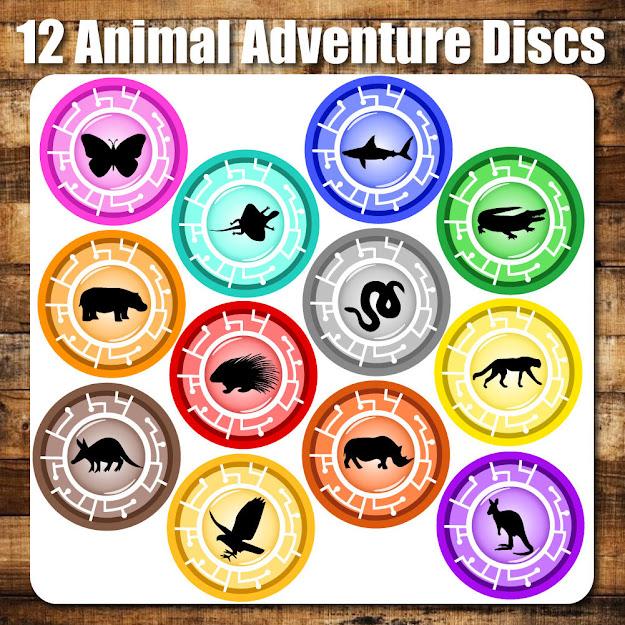 Animal Adventure Discs  Printable Inspired By Creature Power Discs  By Decorodesign  Wild Krattscraft