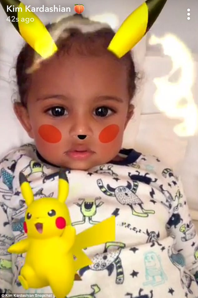 Saint West is just so adorable