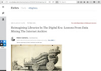 "Screenshot of Forbes ""Reimagining Libraries in the Digital Era"" article."