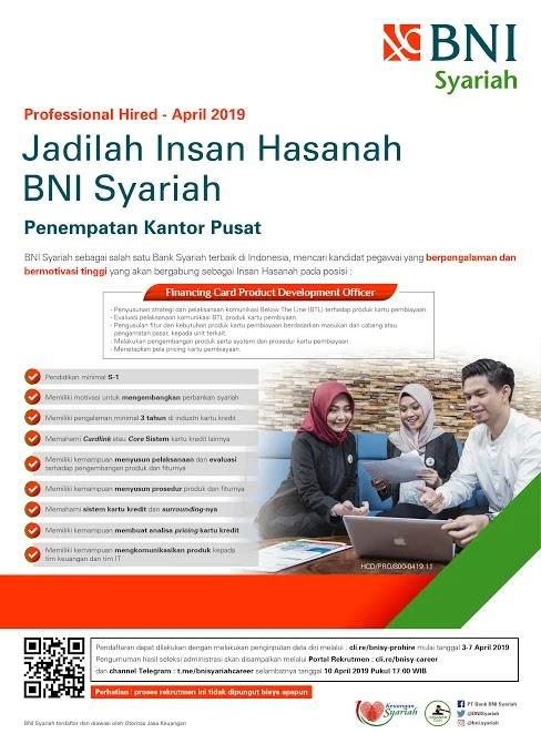 Lowongan Kerja Terbaru BNI Syariah April 2019