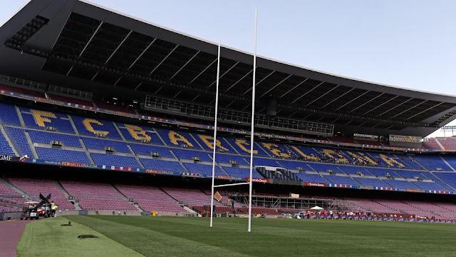El Camp Nou se prepara para ser la sede mundial del rugby