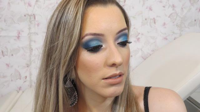 Make Azul para Festas
