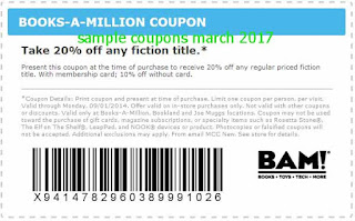 free Books A Million coupons for march 2017
