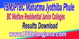 TSMJPTBC Mahatma Jyothiba Phule BC Welfare Residential Junior Colleges Entrace Test Results MJPTBCWRE Entrace Test Results Download