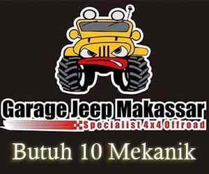 Lowongan Kerja Mekanik di CV Garage Jeep Makassar