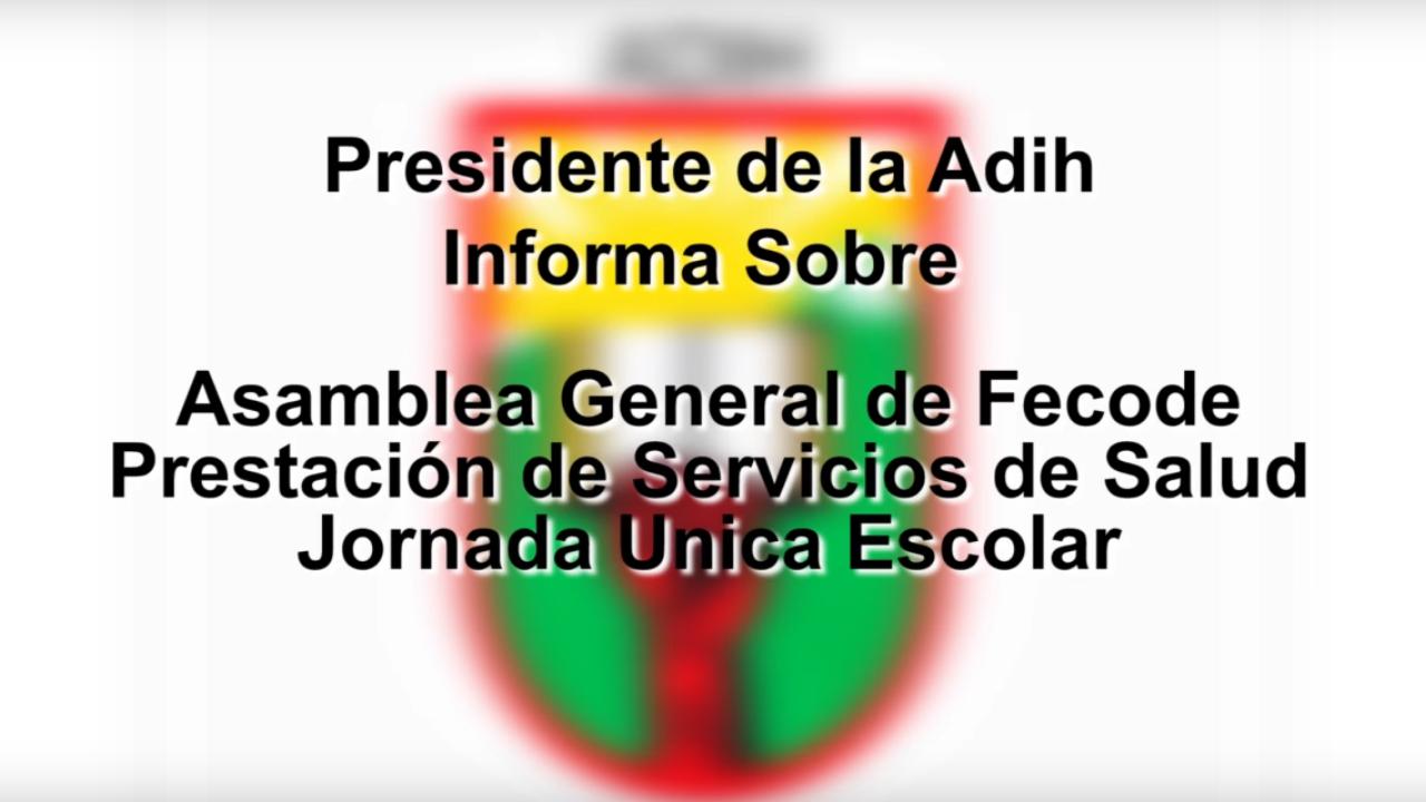 Información General de la Adih para Docentes 02-11-2017