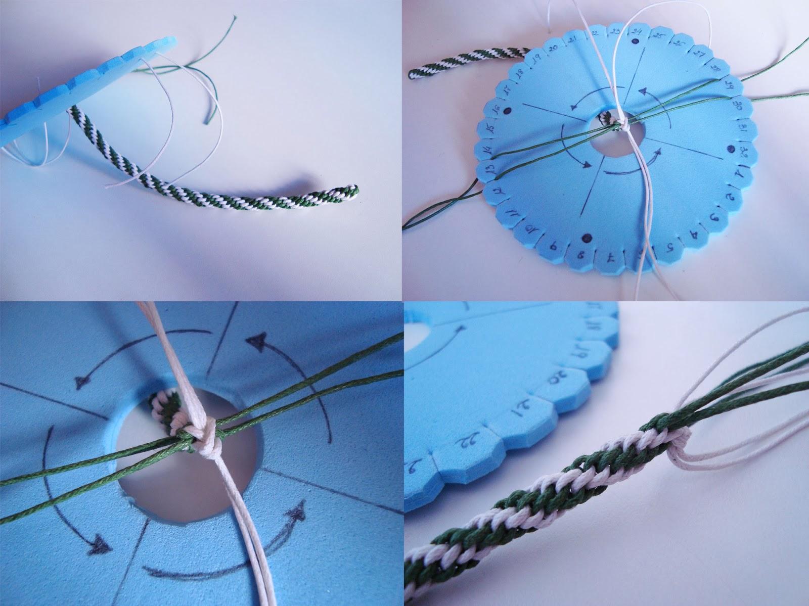 Tutorial Pulsera kimihimo con nudo corredizo - Dibujos de Colores