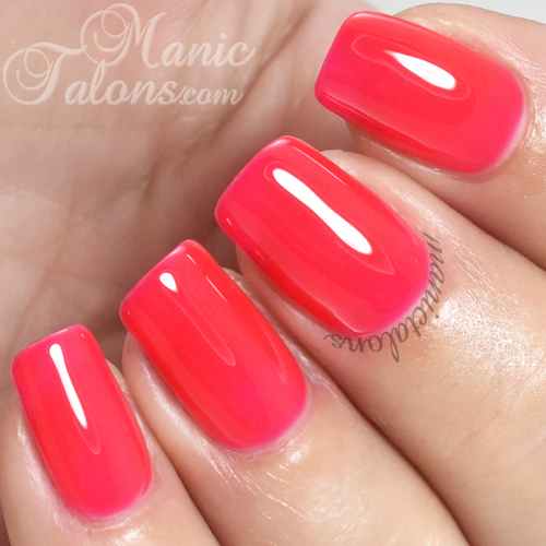Madam Glam Gel Polish Strawberry Infused Pink Swatch