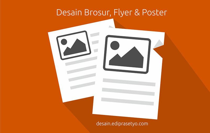 Perbedaan mendasar dari desain brosur, flyer, dan poster