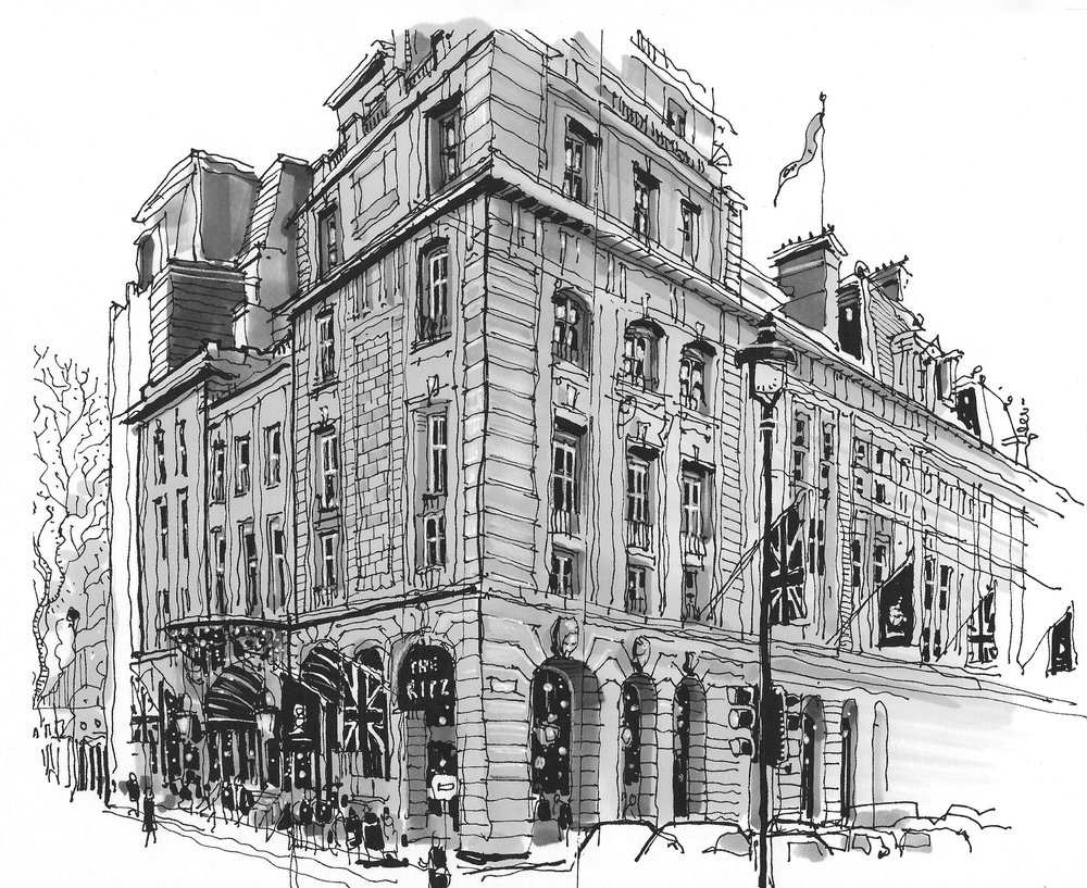 03-The-Ritz-Hotel-London-Phil-Dean-The-Shoreditch-Sketcher-Travelling-around-Europe-www-designstack-co