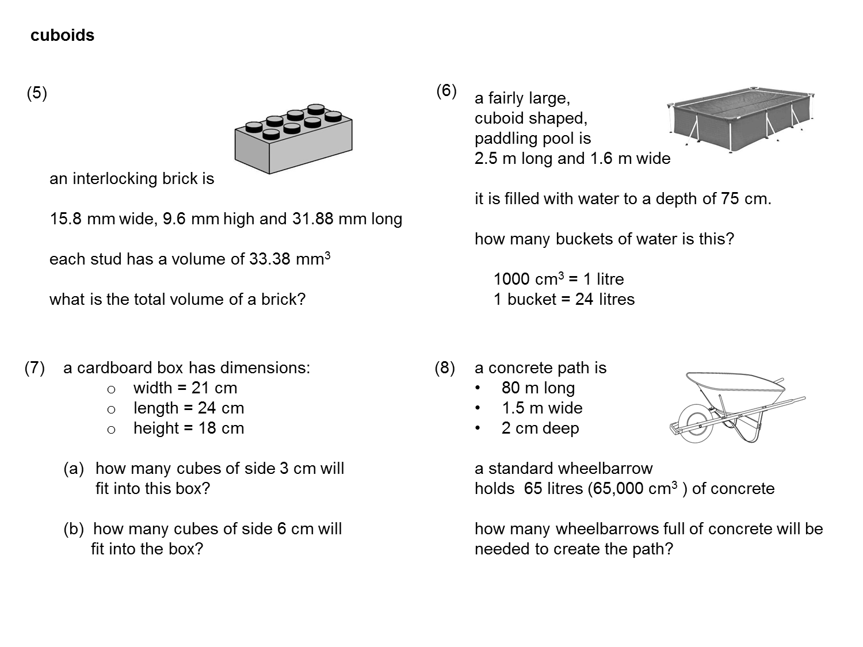 Median Don Steward Mathematics Teaching Cuboid Volumes