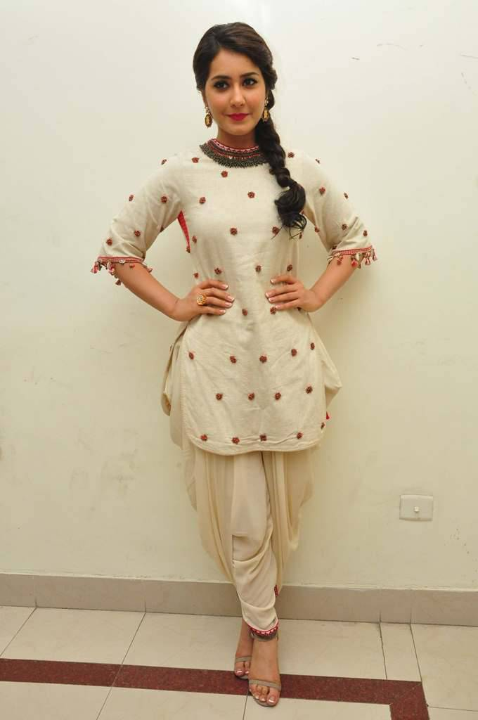 Rashi Khanna Images At Supreme Audio In White Dress