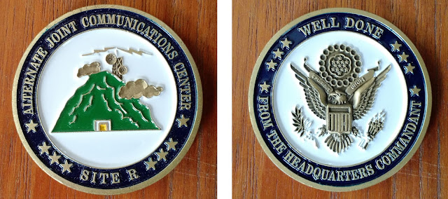 AJCC Site R coin - Raven Rock Mountain Complex challenge coin