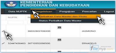Perbaikan Data Master Dan Photo NUPTK