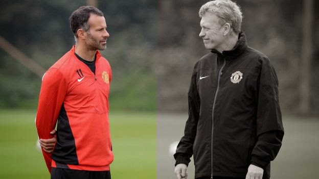 Ryan Giggs David Moyes Red Devils