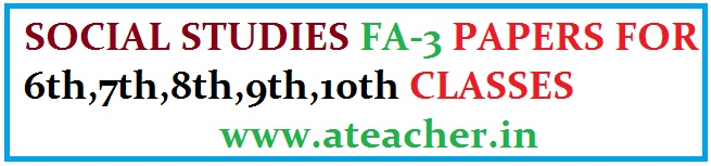 SOCIAL FA3 PAPERS FOR 6th-10th CLASSES
