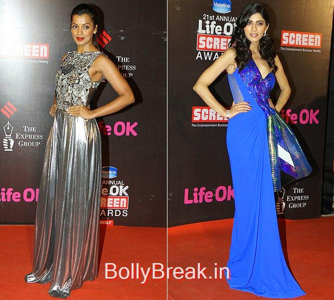 Mugdha Godse, Sapna Pabbi, Life Ok Screen awards 2015 Red Carpet Hot Pics