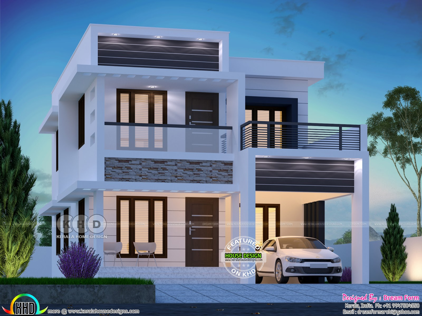 Small But Beautiful Double Storied Home 1701 Sq Ft Kerala Home Design And Floor Plans 8000 Houses