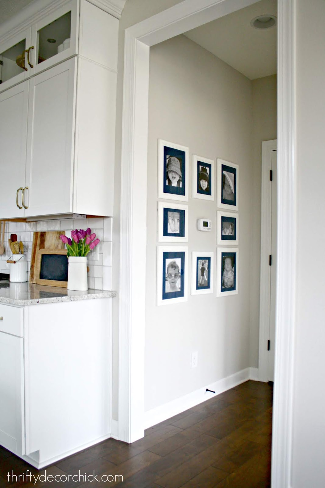 Gallery wall around thermostat